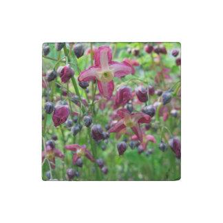 Epimedium Flowers Stone Magnet