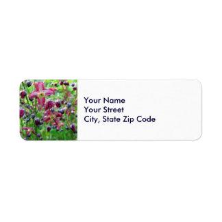 Epimedium Flowers return address label