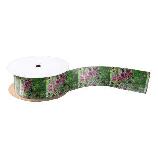 Epimedium Flowers Satin Ribbon