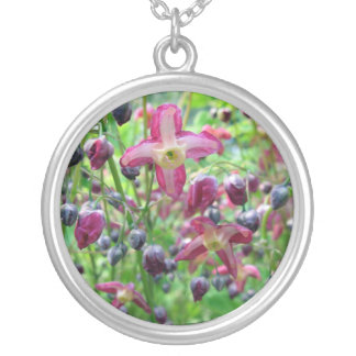 Epimedium Flowers Silver Plated Necklace
