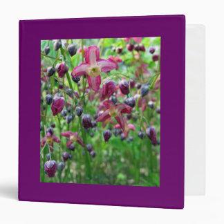 Epimedium Flowers Vinyl Binder