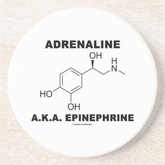 Epinefrina de la adrenalina A.K.A. (química) Posavasos Diseño