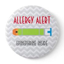 Epinephrine Allergy Alert Emergency Medicine Pin
