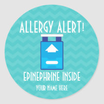 Epinephrine Allergy Alert Stickers