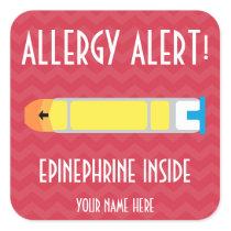 Epinephrine Allergy Alert Stickers