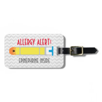 Epinephrine Allergy Alert Tag for Medical Kit