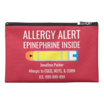 Epinephrine Inside Allergy Alert Custom Kids Travel Accessory Bag