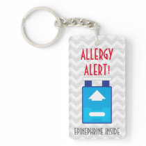 Epinephrine Inside Allergy Alert Kids Personalized Keychain