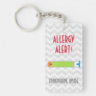 Epinephrine Inside Allergy Alert Kids Personalized Keychain