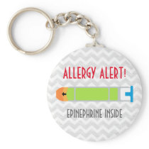 Epinephrine Medicine Kids Personalized Allergy Keychain