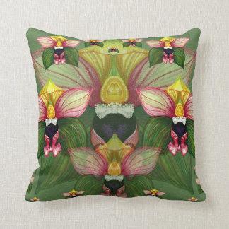 Epipactis helleborine throw pillow