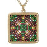 Epiphany Mandala Gold-Finish Necklace