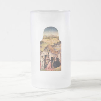 Epiphany-triptych - Adoration of the Magi by Bosch Frosted Glass Beer Mug