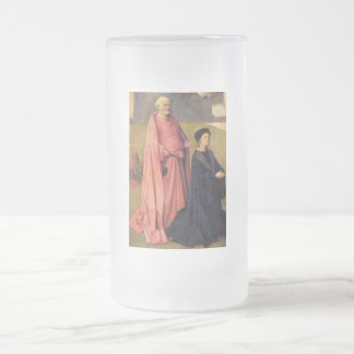 Epiphany-Triptych of St. Peter and Donors Frosted Glass Beer Mug