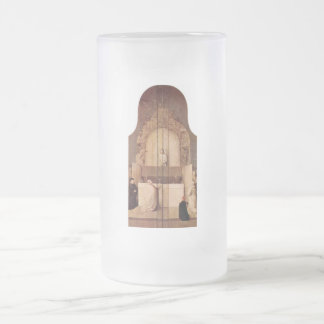 Epiphany-triptych outer sides of the wings by Bosc Frosted Glass Beer Mug