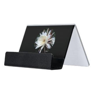 Epiphyte Cactus Flower Desk Business Card Holder