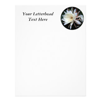 Epiphyte Cactus Flower Letterhead