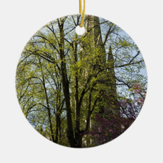 Episcopal Cathedral in Edinburgh Double-Sided Ceramic Round Christmas Ornament