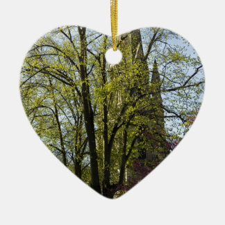 Episcopal Cathedral in Edinburgh Double-Sided Heart Ceramic Christmas Ornament