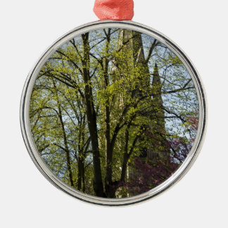 Episcopal Cathedral in Edinburgh Round Metal Christmas Ornament
