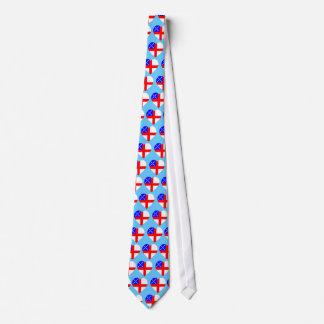 Episcopal Flag Heart Tie