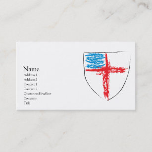 Church business cards zazzle episcopal shield business card reheart Choice Image