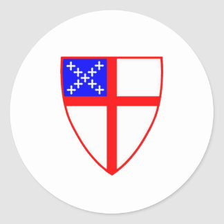 Episcopal Shield Classic Round Sticker