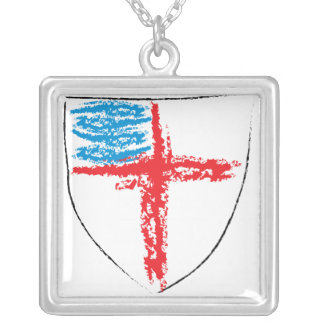 Episcopal Shield Personalized Necklace