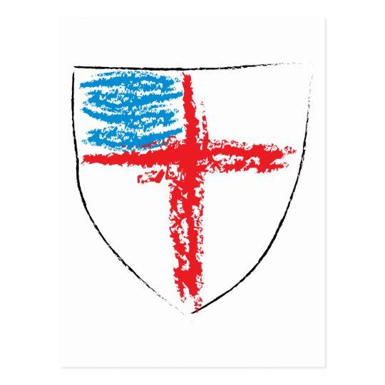 Episcopal Shield Postcard