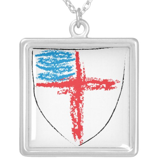 Episcopal Shield Silver Plated Necklace