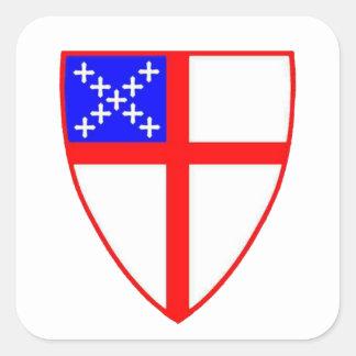 Episcopal Shield Square Sticker
