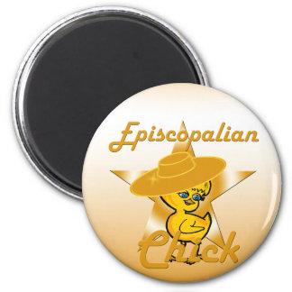 Episcopalian Chick #10 2 Inch Round Magnet