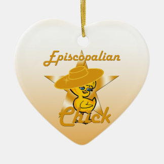 Episcopalian Chick #10 Ceramic Ornament
