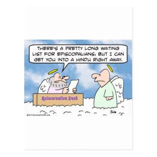 Episcopalians e hindus de la reencarnación postales