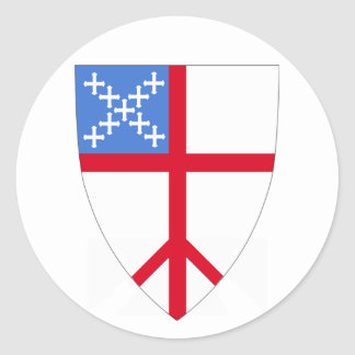 Episcopalians For Peace Throughout the Church Classic Round Sticker