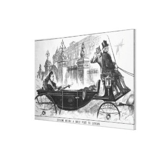 Episode During a Brief Visit to London Canvas Print