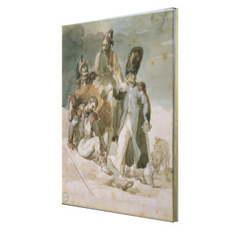 Episode from Napoleon's Retreat Canvas Print