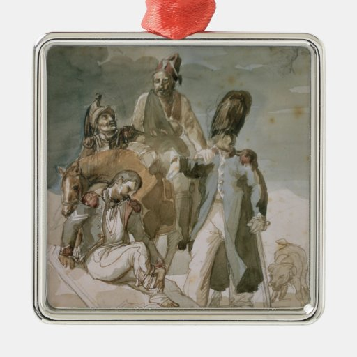 Episode from Napoleon's Retreat Christmas Ornament