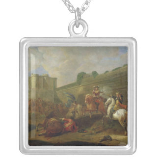 Episode of Fronde at the Faubourg Saint-Antoine Silver Plated Necklace