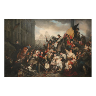 Episode of the Belgian Revolution of 1830 Wood Wall Art