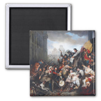 Episode of the September Days by Gustave Wappers Fridge Magnet