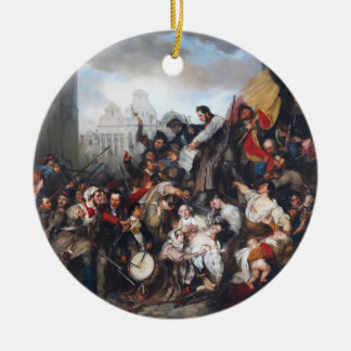 Episode of the September Days by Gustave Wappers Christmas Tree Ornaments