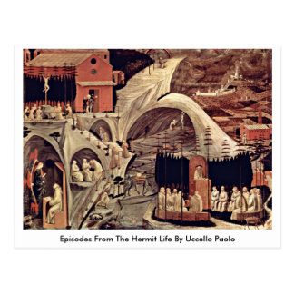 Episodes From The Hermit Life By Uccello Paolo Postcard
