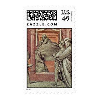 Episodio a partir de la vida del detalle del timbre postal