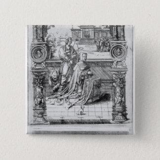 Epitaph of Margaret of Austria Button