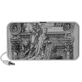 Epitaph of Margaret of Austria Portable Speakers