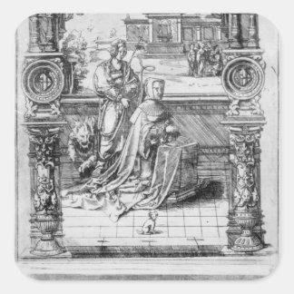 Epitaph of Margaret of Austria Square Sticker