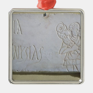Epitaph with a relief of the Good Shepherd Metal Ornament