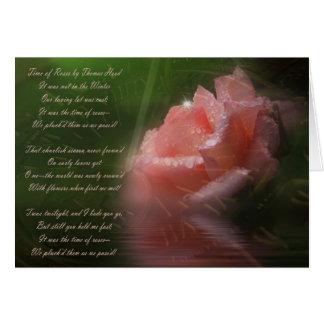 Época de rosas tarjeta de felicitación