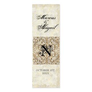 Época dorada de la elegancia, etiqueta con monogra tarjetas de visita